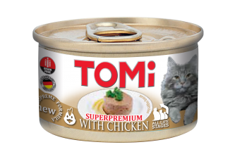 Tomi 85g cat food with chicken tomi tomi cat food that indulge your cat with the ultimate eating experience with a seductive array of individual tastes recipes and textures each prepared forumfinder Gallery